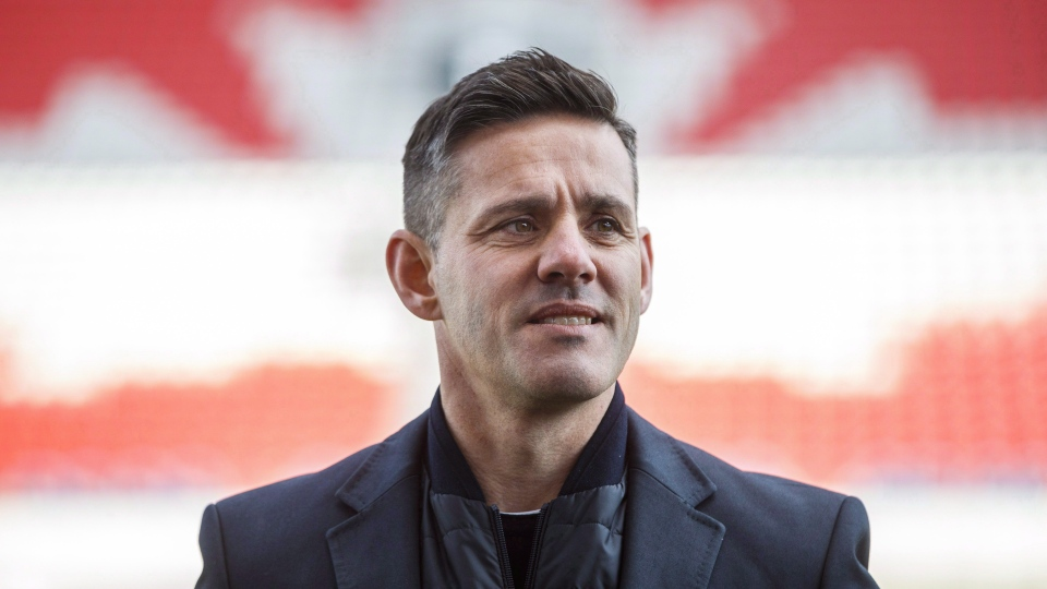 Canada men's national soccer team coach John Herdman poses for a picture at BMO Field in Toronto, Monday, Feb. 26, 2018. (File/ THE CANADIAN PRESS)