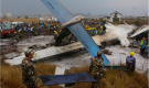 Montreal-based Bombardier Inc. is awaiting the causes of two deadly aircraft crashes over the past couple of days involving its Q400 turbo and Challenger business jet. Nepalese rescuers work after a passenger plane from Bangladesh crashed at the airport in Kathmandu, Nepal, Monday, March 12, 2018. The passenger plane carrying 71 people from Bangladesh crashed and burst into flames as it landed Monday in Kathmandu, Nepal's capital, killing dozens of people, officials said. THE CANADIAN PRESS/AP-Niranjan Shreshta