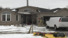 Fire caused $60,000 in damage to a home on McAvoy Drive in Barrie, Ont. on Monday, March 12, 2018. (CTV Barrie)