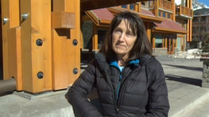 Heather Lynskey, Willy's mother, in Banff