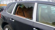 Luxury vehicles damaged in Oakville