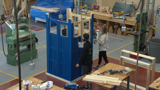 Students build TARDIS