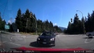 Dashboard-mounted camera footage shows a car behind Todd McGivern's driving school vehicle.