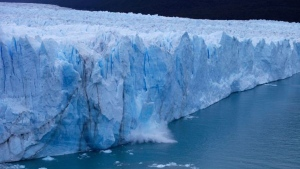 Ice falls from the Perito Moreno Glacier