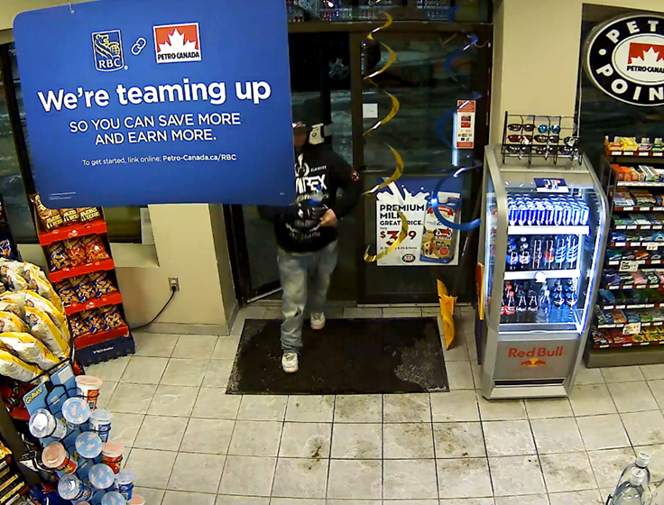 Sarnia police released this photo of a person of interest in a fire investigation.