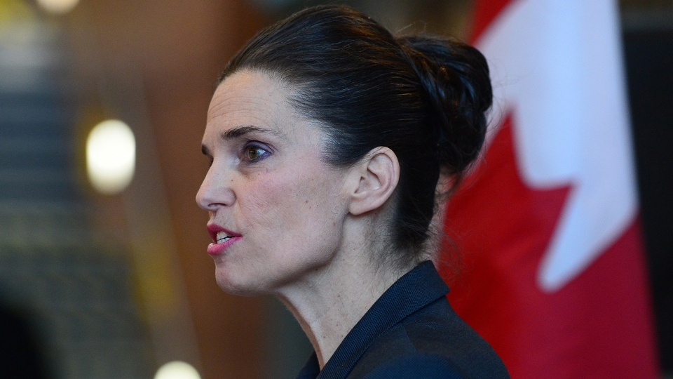 In this file image, Kirsty Duncan, Minister of Science, makes an announcement regarding new asbestos measures during a press conference in Ottawa on Thursday, Dec 15, 2016. THE CANADIAN PRESS/Sean Kilpatrick