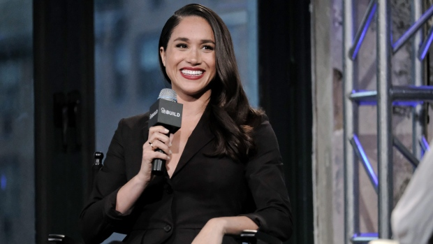 "Actress Meghan Markle participates in AOL's BUILD Speaker Series to discuss her role on the television show, ""Suits"", at AOL Studios on Thursday, March 17, 2016, in New York. (Photo by Evan Agostini/Invision/AP)"