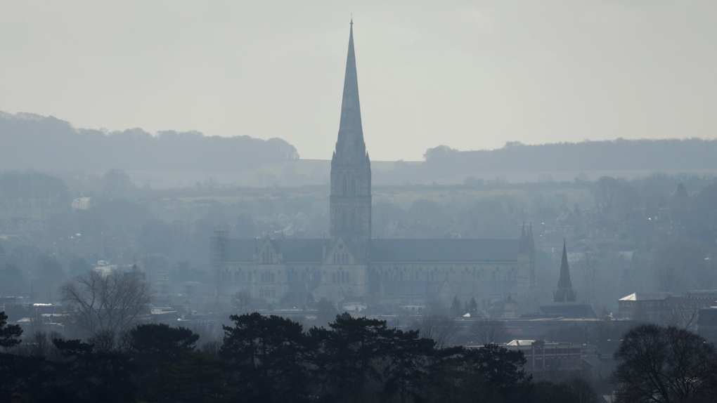 Salisbury Cathedral in Salisbury, England