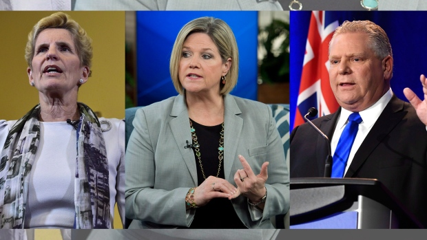 Ontario election: Wynne, Horwath and Ford