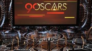 Oscars host Jimmy Kimmel in action