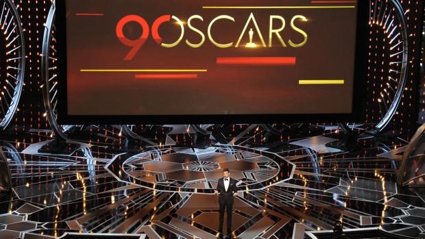 Oscars host Jimmy Kimmel in action