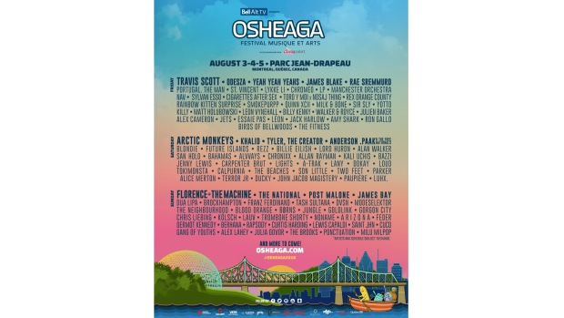The Full Osheaga 2018 Lineup Has Finally Been Released