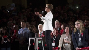 Ontario Premier Kathleen Wynne addresses the Ontario Liberal Party's AGM in Toronto on Feb. 3, 2018. THE CANADIAN PRESS/Chris Young