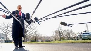 U.S. President Donald Trump speaks