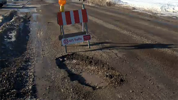 City crews fill about 40,000 potholes each year.