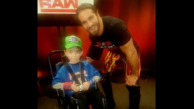 Michael Ginassio meets WWE superstar Seth Rollins