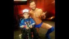Michael Ginassio meets WWE superstar Finn Balor