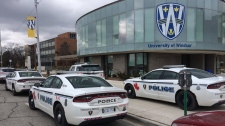 Windsor police cruisers at UWindsor