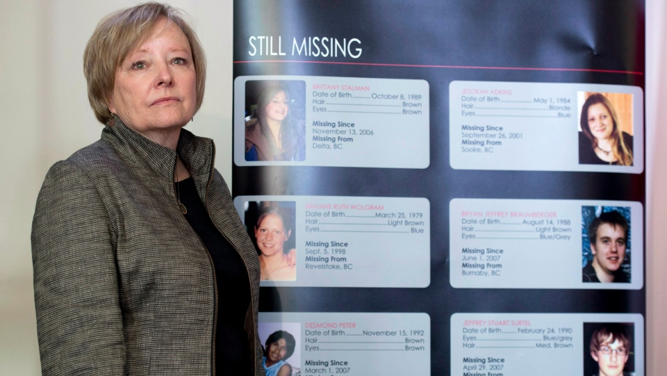 Judy Peterson, who's daughter Lindsey Jill Nicholls went missing in 1993, takes part in a government news conference to announces a DNA-based national missing persons index Monday October 27, 2014 in Ottawa. (THE CANADIAN PRESS / Adrian Wyld)