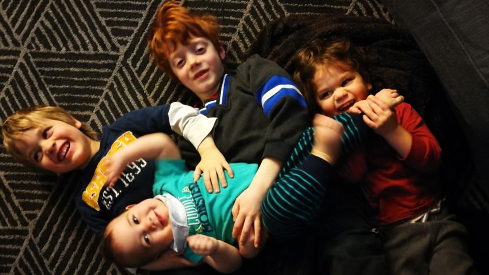 DeCairos DeBoer's four sons: Phoenix, Quinn, Gabriel and Benjamin. (Handout)