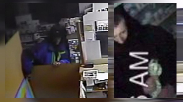 Surveillance camera stills of the suspect in 13 pharmacy break-ins in Calgary that occurred between January 21 and March 5, 2018 (CPS)