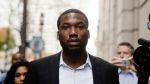 In this Nov. 6, 2017 file photo, rapper Meek Mill arrives at the criminal justice center in Philadelphia. (AP Photo/Matt Rourke, File)