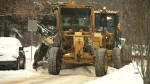 grading snow in residential areas to prevent ruts