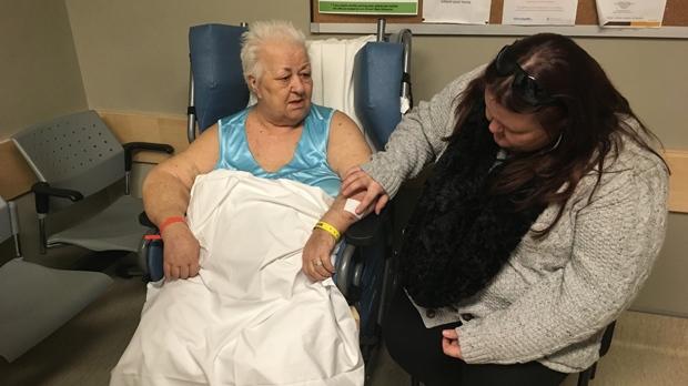 Antonia and Elizabeth Ruf in Seven Oaks Hospital. (Sarah Plowman/CTV News)