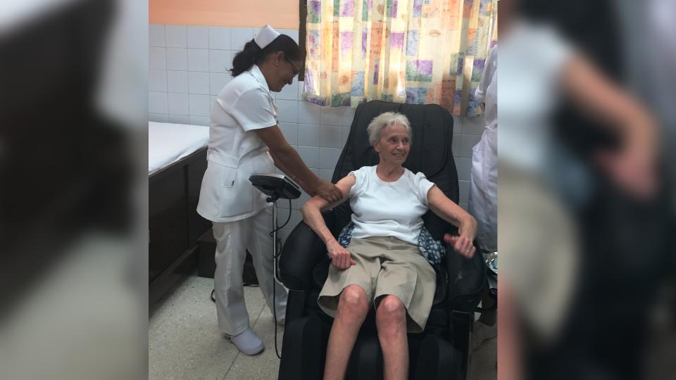 Judy Bryden in Cuba (Supplied/Pamela Bryden)