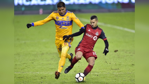 Toronto FC and UANL Tigres in action