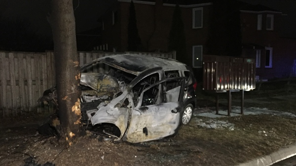 Mississauga man 'very lucky to be alive' after fiery collision