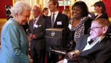 Queen Elizabeth II meets Professor Stephen Hawking