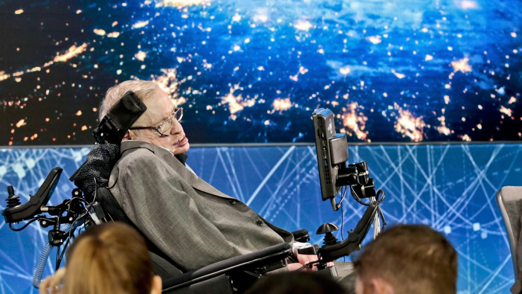 Stephen Hawking in New York in 2016