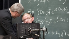 Stephen Harper and Stephen Hawking in 2010