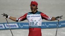 Brian McKeever celebrates at the Pyeongchang Games