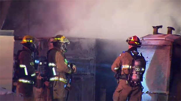 Fire crews were called to an industrial area in the southeast on Wednesday morning.