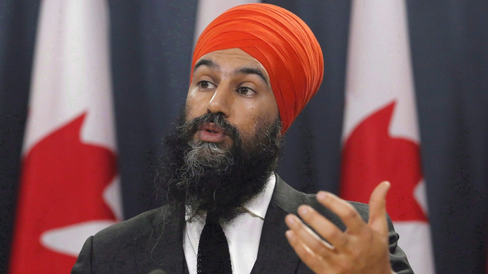 NDP Leader Jagmeet Singh speaks at a press conference on Feb. 13, 2018. (Patrick Doyle / THE CANADIAN PRESS)
