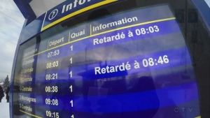 Train delays were common on the RTM network this past winter