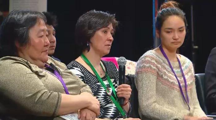 Sarah Nowyakallak, centre, shares her sister's story.