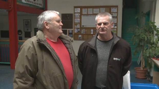 Former Bayplex ice makers Wayne Perry and Frank Wadden say the Cape Breton Regional Municipality told them they could return to work once the arena reopens.