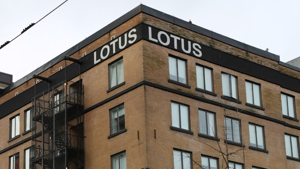 "The Lotus hotel and Abbott and Pender Streets advertises ""newly-renovated micro-suites"" for rent on its website. (Carnegie Community Action Project)"
