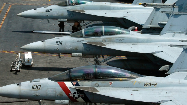 U.S. jet crashes