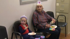Canmore Hospital volunteers birthday party