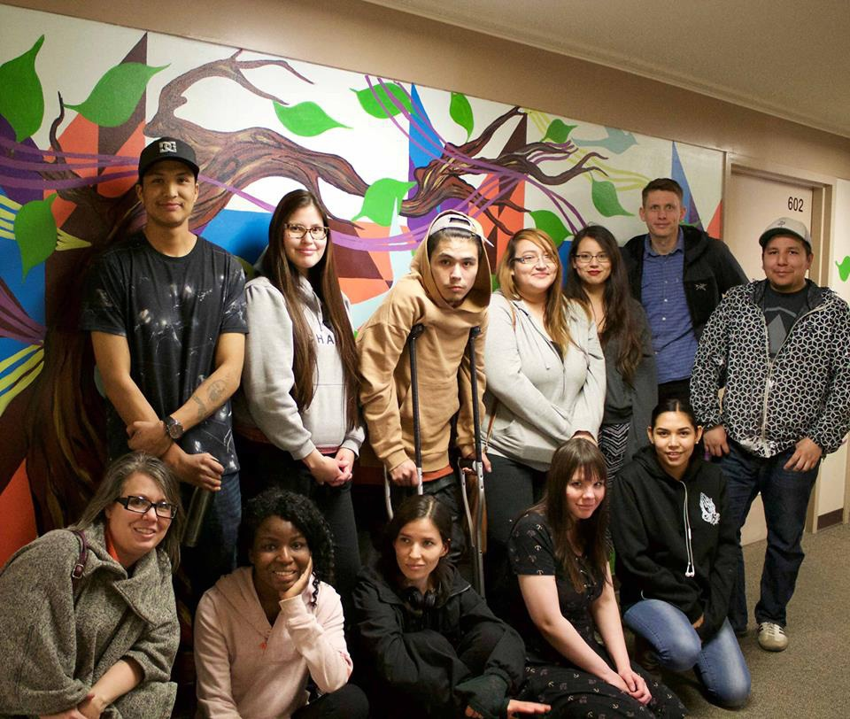 Participants in SCYAP's Urban Canvas Project (supplied)