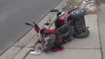A 70-year-old was taken to hospital following a crash on Franklin Boulevard in Cambridge.
