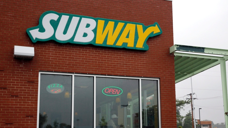 A Subway restaurant is shown Tuesday, July 7, 2015, in St. Louis. (AP Photo/Jeff Roberson)