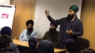 NDP Leader Jagmeet Singh is seen speaking at a seminar on Sikh sovereignty in 2016 in this still image taken from video. (Sovereignty and Polity/YouTube)