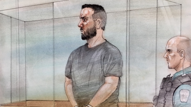 Cory Fenn is seen in this court sketch, Thursday, March 15, 2018.