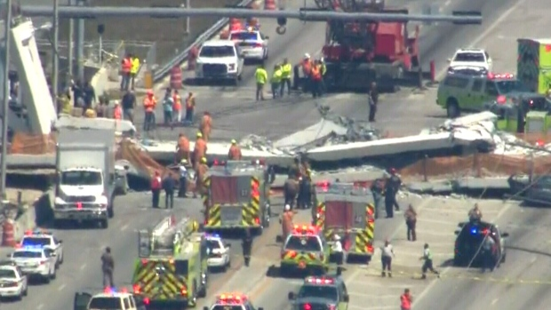 FIU pedestrian bridge collapse: Injuries, possible fatalities reported