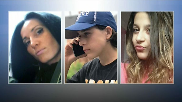 Thirty-nine-year-old Krassimira Pejcinovski, her 15-year-old son Roy Pejcinovski and her 13-year-old daughter Venallia Pejcinovski appear in these undated photos.